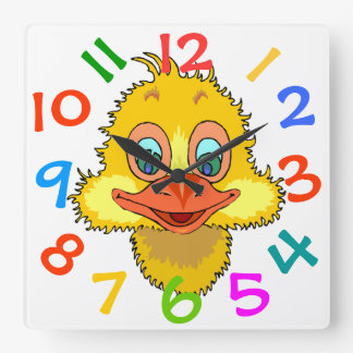 El tema colorido del pato embroma el reloj de pare