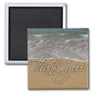 El tema de la playa le agradece imán para frigorífico