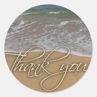 El tema de la playa le agradece pegatinas redondas