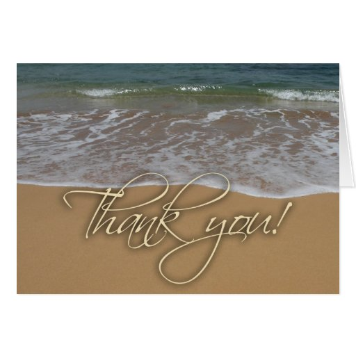 El tema de la playa le agradece tarjeta de felicitación
