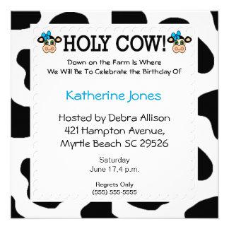 El tema de la vaca embroma la invitación del cumpl