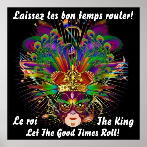 El tema de Mard Gras el rey 40 X40 ve por favor no Posters