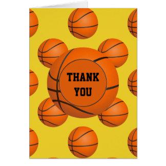 El tema del baloncesto del fiesta de los deportes tarjeta pequeña