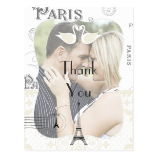 El tema del boda de París le agradece Tarjetas Postales