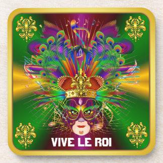 El tema del fiesta del carnaval ve por favor notas posavasos de bebidas