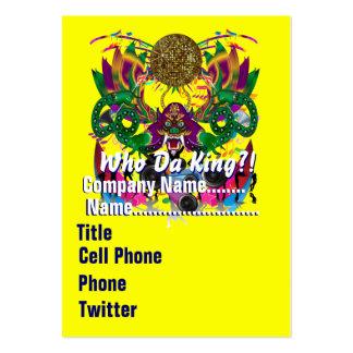 El tema del fiesta del carnaval ve por favor notas tarjetas de visita grandes