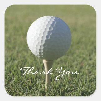 El tema del golf le agradece los pegatinas pegatina cuadrada
