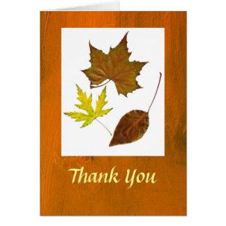 El tema del otoño le agradece tarjeton