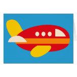El tema lindo del transporte del aeroplano embroma tarjetón