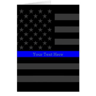 El tema los E.E.U.U. negros personalizados Blue Tarjeta De Felicitación