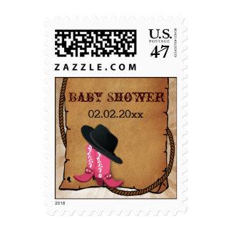 el tema occidental de las botas de vaquero sellos postales