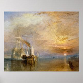 El Temeraire que lucha, 1839 Póster