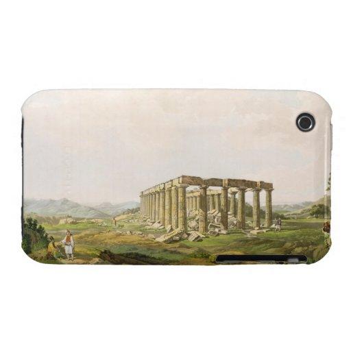 El templo de Apolo Epicurius, platea 25 de parte iPhone 3 Carcasa