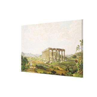 El templo de Apolo Epicurius, platea 25 de parte Lona Envuelta Para Galerías