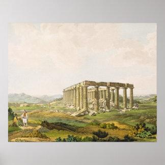 El templo de Apolo Epicurius, platea 25 de parte Póster