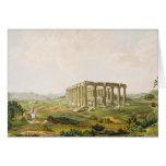 El templo de Apolo Epicurius, platea 25 de parte Tarjeta De Felicitación