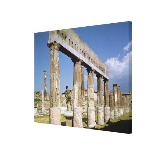 El templo de Apolo Impresión En Lona