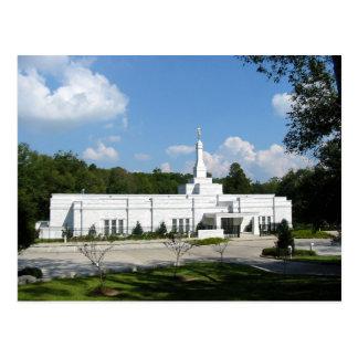 El templo de Baton Rouge Luisiana LDS Tarjeta Postal