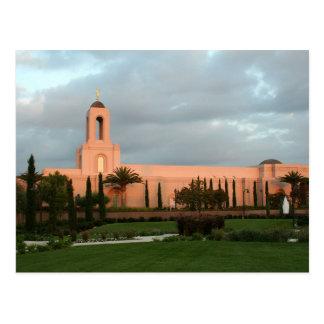 El templo de California LDS de la playa de Newport Postal