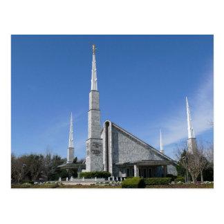 El templo de Dallas Tejas LDS Tarjeta Postal