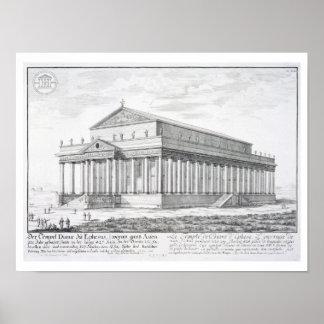 El templo de Diana en Ephesus, Turquía, de 'Entw Posters