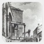 El templo de Júpiter en el palacio de Colcomanias Cuadradas Personalizadas