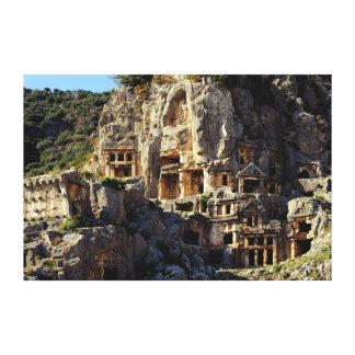El templo de Koka de las tumbas del Roca-Cut de Ly Lienzo Envuelto Para Galerías