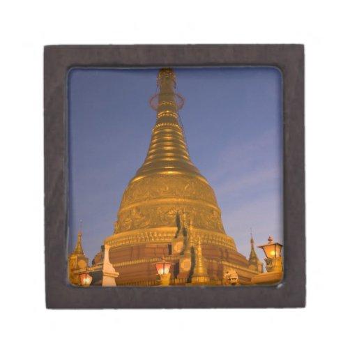 El templo de la lata de Shwe Myin, oscuridad, hace Cajas De Joyas De Calidad