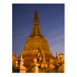 El templo de la lata de Shwe Myin, oscuridad, hace Tarjetas Postales