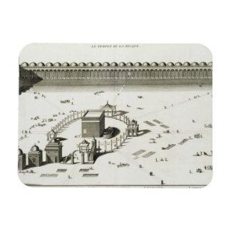 El templo de La Meca grabado Iman Rectangular