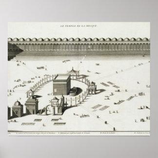 El templo de La Meca (grabado) Póster