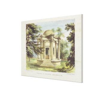El templo de la victoria, Kew cultiva un huerto, p Impresión En Lona