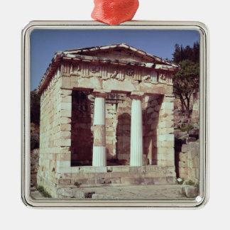 El templo de los tesoros de los atenienses ornamentos de reyes magos