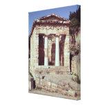 El templo de los tesoros de los atenienses lona envuelta para galerías