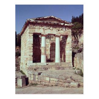 El templo de los tesoros de los atenienses tarjeta postal