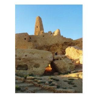 El templo de Oracle en el oasis de Siwa Postal