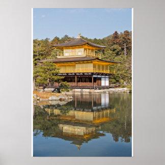El templo de oro en Kyoto Japón Impresiones
