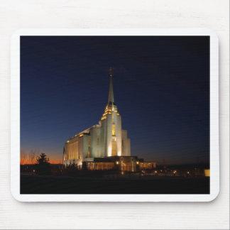 El templo de Rexburg LDS Alfombrilla De Ratón