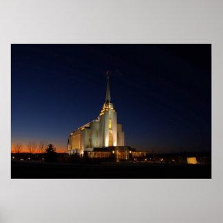 El templo de Rexburg LDS Impresiones