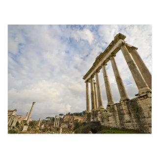 El templo de Saturn es el más viejo del romano Postal