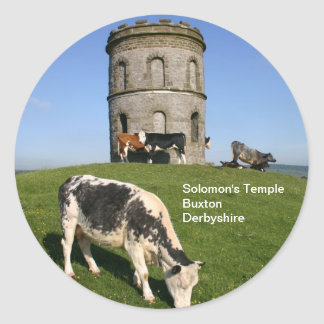 El templo de Solomon, Buxton Pegatina Redonda