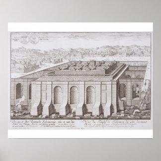 El templo de Solomon, Jerusalén, de 'Entwurf E-I Poster