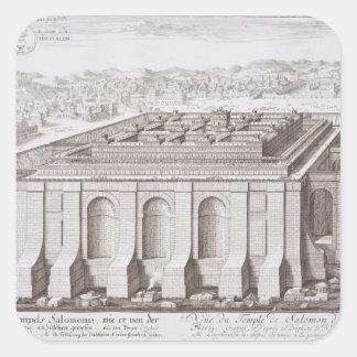 El templo de Solomon, Jerusalén, de 'Entwurf E-I Pegatina Cuadrada