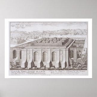 El templo de Solomon, Jerusalén, de 'Entwurf E-I Póster