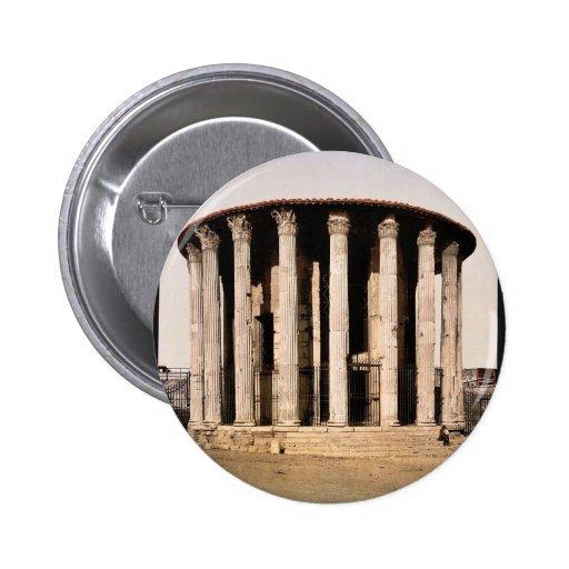 El templo de Vesta, obra clásica Photochrom de Rom Pin