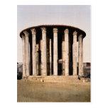El templo de Vesta, obra clásica Photochrom de Rom Postal