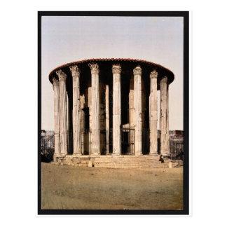 El templo de Vesta, obra clásica Photochrom de Rom Tarjetas Postales