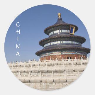 El Templo del Cielo en Pekín Pegatina Redonda