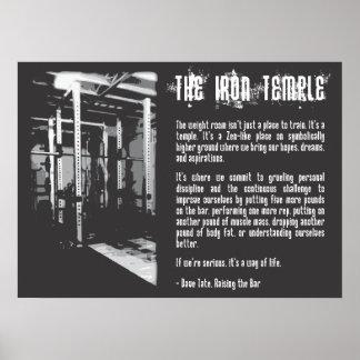 El templo del hierro - poster del gimnasio