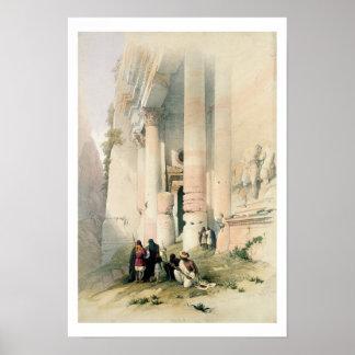 El templo llamó el EL Khasne, Petra, el 7 de marzo Póster